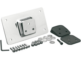Laydown Original Style Number Plate Mount - Chrome.