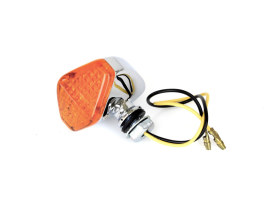 Mini Diamond LED Turn Signal with Amber Lense - Chrome.