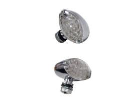 LED Cateye Turn Signals - Chrome.