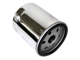 Oil Filter - Chrome. Fits Softail 1984-1998, Sportster 1984up, FXR & FLT 1980-1998 & Buell 1995-2002.