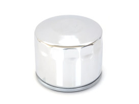 Oil Filter - Chrome. Fits Big Twin 1982-1986 with 4 Speed Transmission & Sportster 1980-1984.