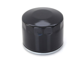 Oil Filter - Black. Fits Big Twin 1982-1986 with 4 Speed Transmission & Sportster 1980-1984.