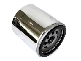 Oil Filter - Chrome. Fits Twin Cam 1999-2017 & Milwaukee-Eight 2017up.