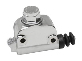 Lockheed Style Rear Brake Master Cylinder - Chrome. Fits Big Twin 1973-1979 with Disc Brake.