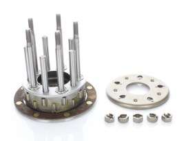 5 Stud Clutch Hub with Long Rollers. Fits Big Twin 1936-1984 with Original H-D Dry Clutch.
