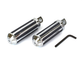 Small Rail Style Footpegs with Male Mount - Chrome.