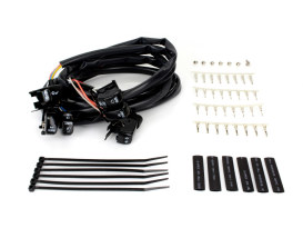 48in. Handlebar Wiring Harness with Black Switches. Fits Big Twin & Sportster 1996-2006.