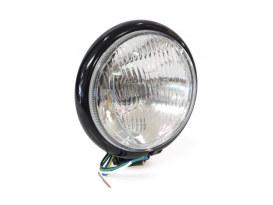 5-3/4in. Batz Style Headlight with Bottom Mount - Black.