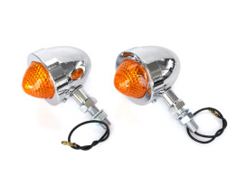 Mini Bullet Turn Signal with 2in. Mount Stud - Chrome.