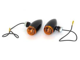 Mini Stretch Bullet Turn Signal - Gloss Black.