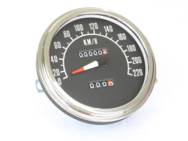 5in. KPH 1968-1984 Style Speedometer. Fits Fat Bob Dash.