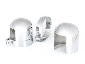 Upper Shock Cover's with Chrome Finish. Fits Big Twin 1958-1984 & Sportster 1952-1978 Models.