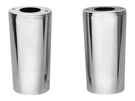 Standard Length Slider Covers - Chrome. Fits FL 1948-1984 with 4 Speed Transmission, FL Softail 1986-2017 & Touring 1980-2013.