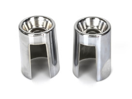 Upper Shock Covers - Chrome. Fits Big Twin 1958-1986 & Sportster 1965-1974.