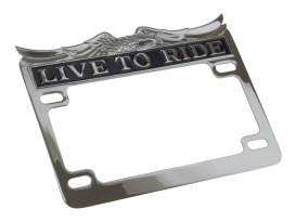 Live-to-Ride Number Plate Frame - Chrome.