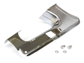 Lower Belt Guard with Chrome Finish. Fits FLH 1985-2001 & FXR 1985-1994 Models.