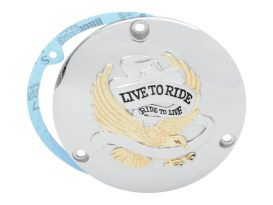 Live-to-Ride Derby Cover - Gold. Fits Big Twin 1970-1998.