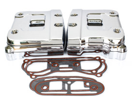 Rocker Covers with Chrome Finish. Fits Big Twin 1984-1991.