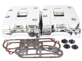 Rocker Covers with Chrome Finish. Fits Big Twin 1992-1999.