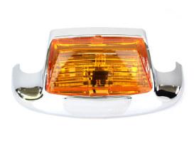 Front Fender Tip Light with Amber Lens. Fits FL H-D 1980-1999.