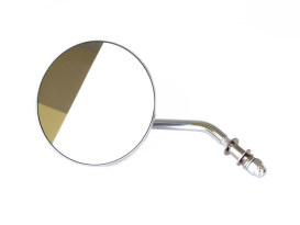 4in. Round Mirror with Short Stem - Chrome. Fits Left.