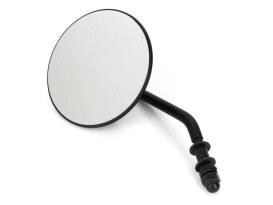 4in. Round Mirror with Short Stem - Black. Fits Left.