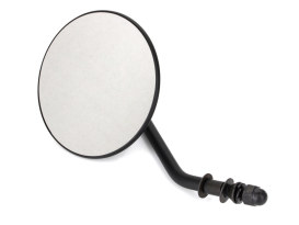 4in. Round Mirror with Short Stem - Black. Fits Right.