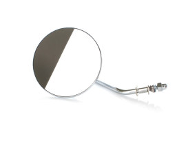 4in. Round Mirror with Short Stem - Chrome. Fits Right.