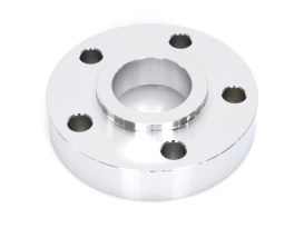 7/8in. Pulley Spacer with Lip. Fits H-D 2000up Wheels. Chrome.