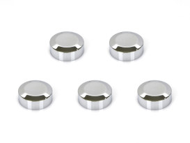 Rear Pulley Bolt Covers - Chrome.