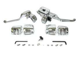 Handlebar Control Kit with Chrome Finish. Fits Big Twin & Sportster 1996-2006 Models with Front Single Disc Rotor.