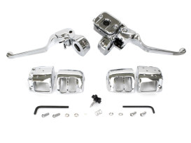 Handlebar Control Kit - Chrome. Fits Big Twin 2007-2010 with Front Single Disc Rotors.