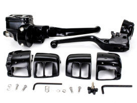 Handlebar Control Kit with Black Finish. Fits Big Twin 2007-2010 with Front Single Disc Rotors.