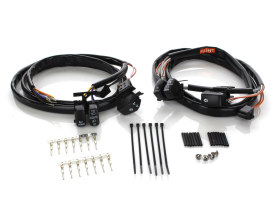 Handlebar Wiring Harness with Black Switches. Fits Big Twin & Sportster 2007-2010.