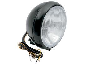 7in. Headlight - Black. Fits FL Softail 1986up.