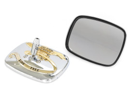Live to Ride Mirrors - Chrome & Gold.