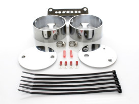 Dual Gauge Mount - Chrome. Fits Dyna 1995-2005 & Sportster 1995up.