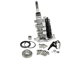 DD7, Direct Drive 7 Speed Builders Kit. Transmission Cassette with Chrome Trap Door. Fits Dyna 2006-2017, Touring 2007-2016 & Softail 2007-2017.