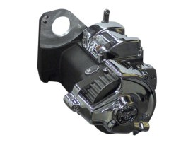 OD6R Overdrive 6 Speed Right Side Drive Transmission Assembly with Belt Pulley & Black Finish. Fits Softail 1984-1999.