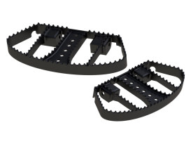 MX Style Floorboards - Black. Fits Touring 1982up, FL Softail 1986-2017 & Dyna Switchback 2012-2016.
