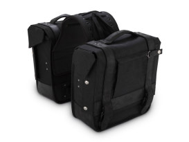 Burly Throw-over Saddlebags. Black Cordura Finish
