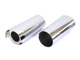 +2in. Extended Slider Covers - Chrome. Fits Touring 2014up.
