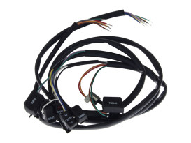 48in. Handlebar Wiring Harness with Black Switches. Fits Big Twin & Sportster 1982-1995.