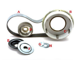 Closed Belt Drive Kit. Fits 4Spd Big Twin 1979-1984 with Rear Belt Drive & Electric Start.