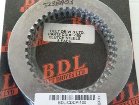 Steel Drive Clutch Plate Kit. Fits BDL Competitor Clutch 1990-1997.