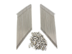 21in. Spokes - Stainless Steel. Fits Original Style H-D Drop Center Rims when used in conjunction with 1936-1996 H-D style Wide Glide Front Hub.