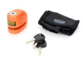 10mm Disc Lock with Orange Finish & Pouch.