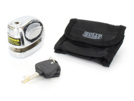 10mm Disc Lock with Pouch - Chrome.