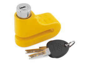 5.5mm Disc Lock with Yellow Finish.
