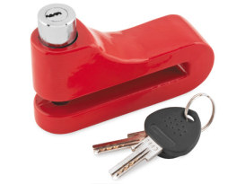 10mm Disc Lock with Red Finish.